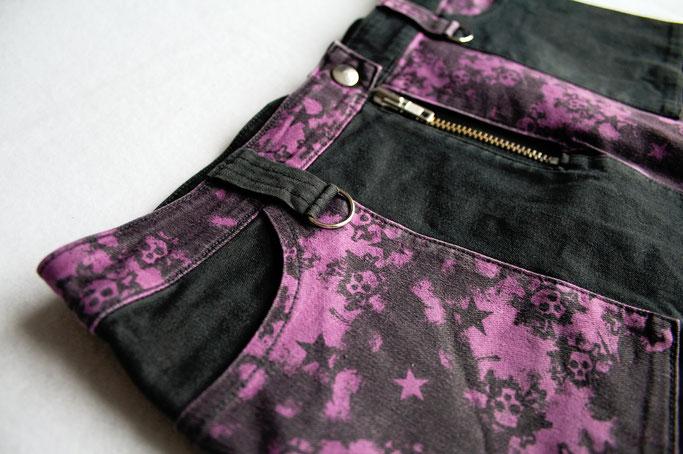 5 Lieblingsminiröcke - Punk Minirock mit Taschen und D-Ringen - Zebraspider DIY Anti-Fashion Blog