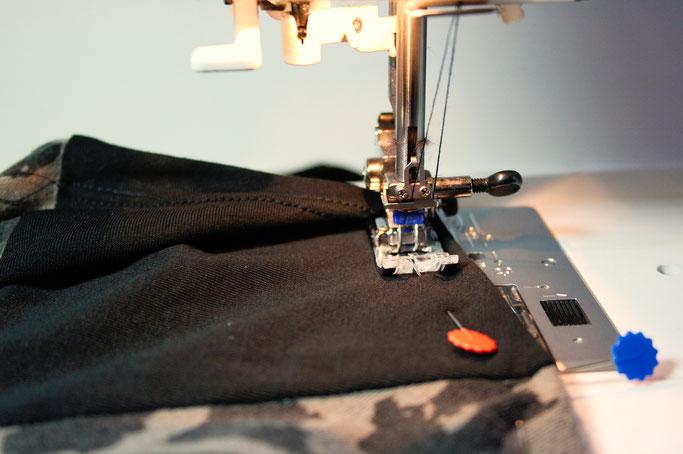 Zweites Leben für den Leopard - Zwillingsnadel - Zebraspider DIY Anti-Fashion Blog