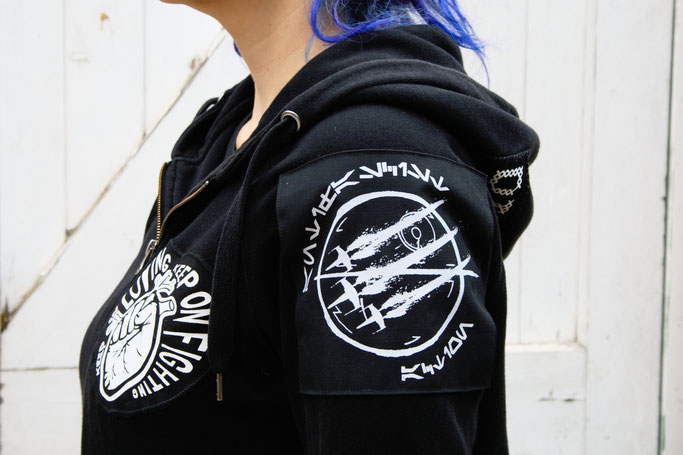 Wo ich politische Aufnäher kaufe - Antifa am Todesstern und Herz von RougeCat - Zebraspider DIY Anti-Fashion Blog
