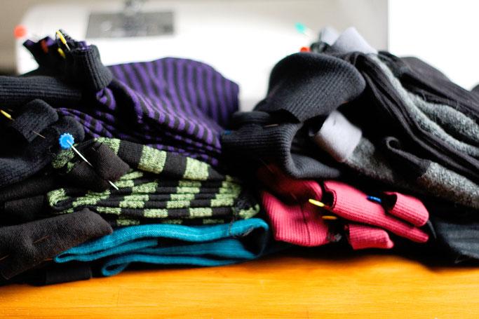 Woran ich momentan arbeite - Beinstulpen nähen - Zebraspider DIY Anti-Fashion Blog