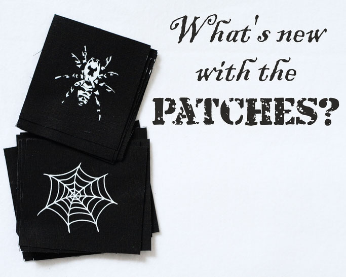 What's new with the patches? - organic cotton and reduced surprise packs - Zebraspider DIY Anti-Fashion Blog