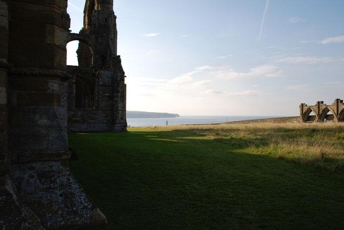 (M)ein Tag am Meer - Whitby Abbey Blick auf's Meer - Zebraspider DIY Blog
