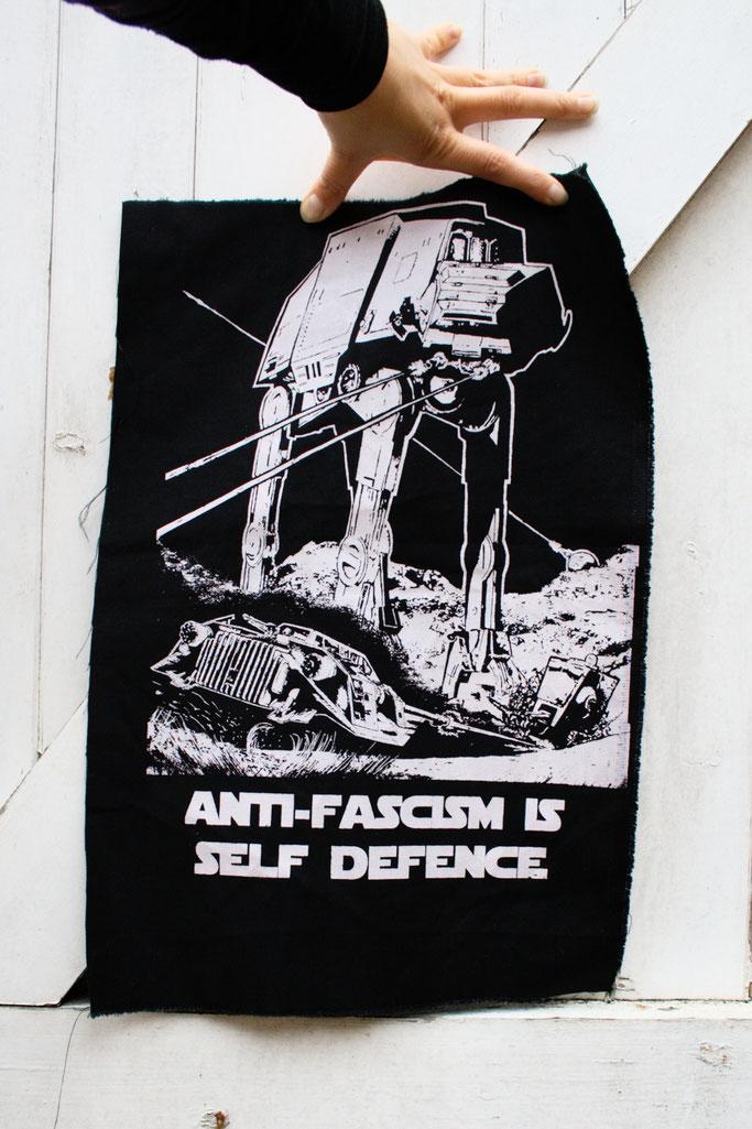 Wo ich politische Aufnäher kaufe - Antifa Star Wars Rückenaufnäher von RougeCat - Zebraspider DIY Anti-Fashion Blog