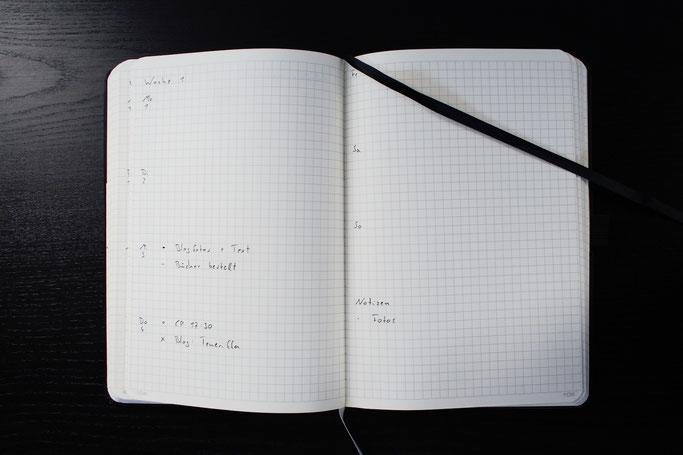 Chaos vom Kopf aufs Papier - minimalistisches Bulletjournal - Zebraspider DIY Anti-Fashion Blog