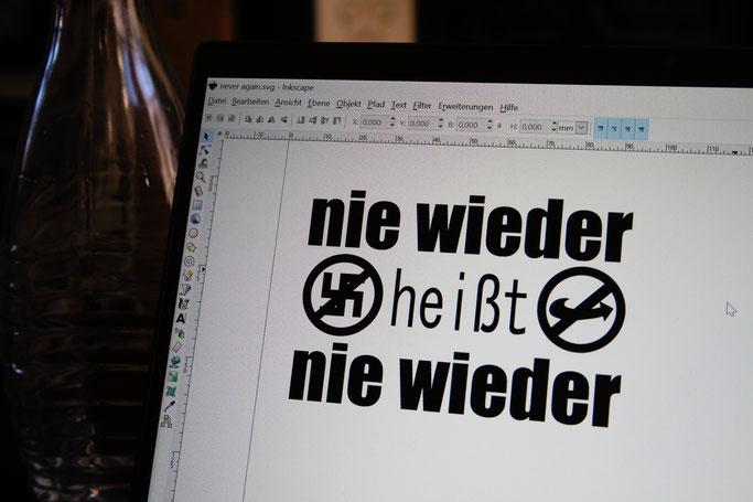 Woran ich momentan arbeite - antifaschistische Aufnäher designen - Zebraspider DIY Anti-Fashion Blog