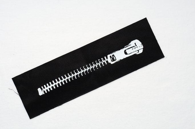 3 neue Aufnäher - auch in groß - Reißverschluss Rückenaufnäher - Zebraspider DIY Anti-Fashion Blog