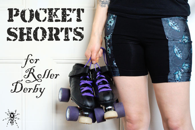 Pocket Shorts for Roller Derby - Zebraspider DIY Anti-Fashion Blog