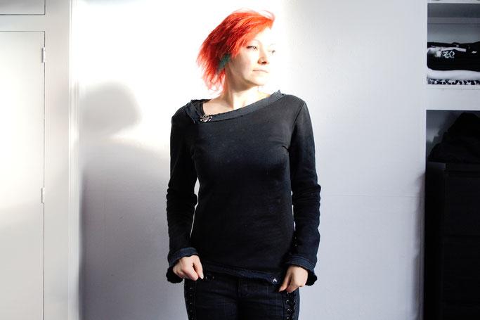 Ungleicher Klon Bio-Pulli - Gothic Sweatshirt - Zebraspider DIY Anti-Fashion Blog