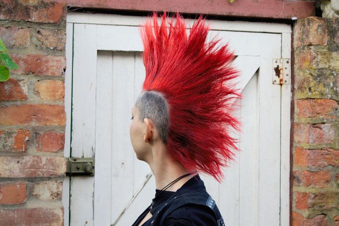 Versöhnung mit (m)einer Haarfarbe - roter Iro - Zebraspider DIY Anti-Fashion Blog