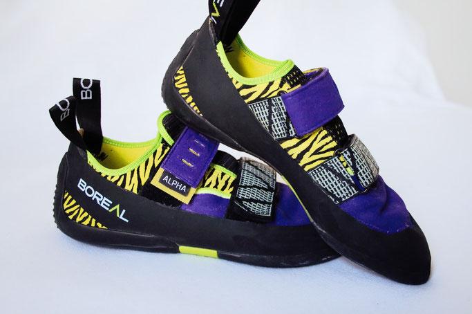 Was tun mit hässlichen Sportschuhen? - Kletterschuhe lila und Zebra - Zebraspider DIY Anti-Fashion Blog