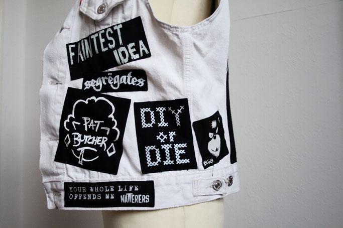 Die nicht mehr ganz so weiße Weste - Pat Butcher und DIY or die - Zebraspider DIY Anti-Fashion Blog