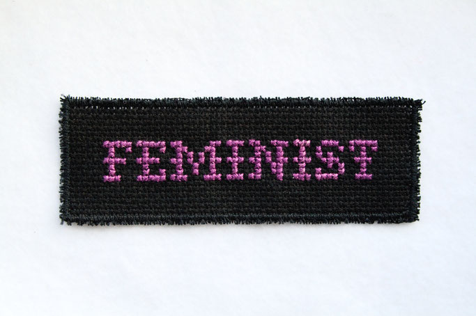 All Cross-stitches Are Beautiful - Kreuzstich Aufnäher - Feminist - Zebraspider DIY Anti-Fashion Blog