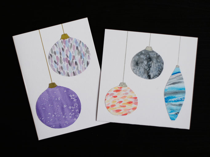 Small things collected - gifts and drawings - watercolour christmas cards - Zebraspider DIY Anti-Fashion Blog