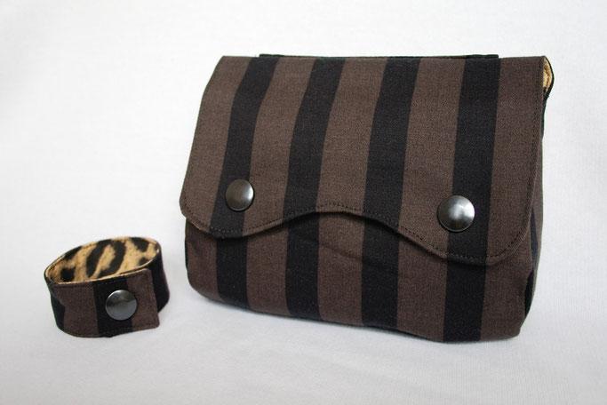 Auftrag für ein Steampunk-Endzeit-Outfit - Gürteltasche und Armband - Zebraspider DIY Blog