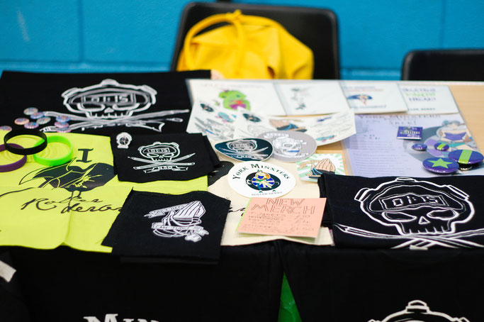 Yorkshire Roller Derby - York Minxters Merch Stand - Zebraspider DIY Anti-Fashion Blog