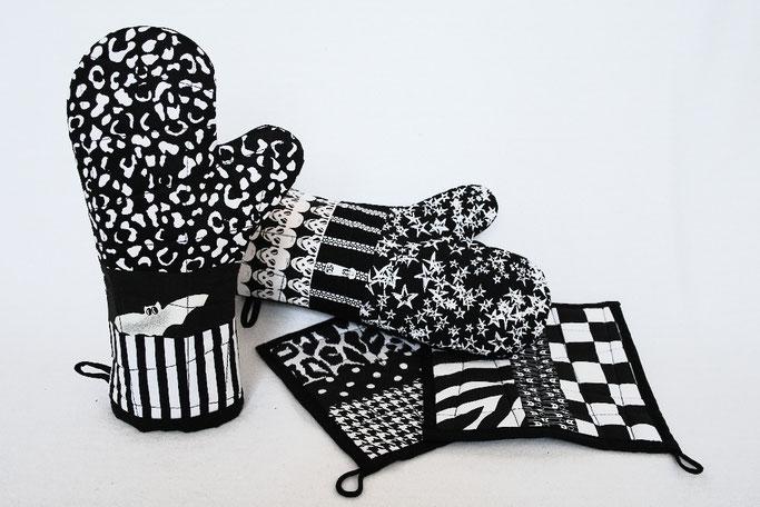 Warum ein werbefreier Blog - coole Ofenhandschuhe und Topflappen - Zebraspider DIY Anti-Fashion Blog