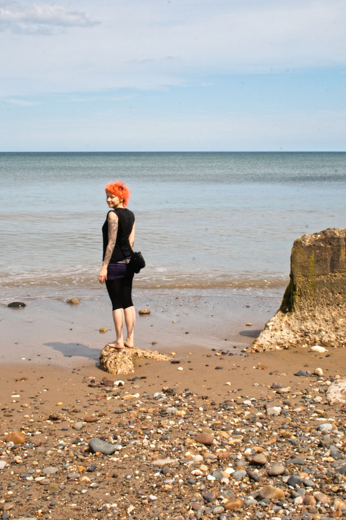 Ausfahrt zum Strand - Yorkshire Küste kalte Nordsee - Zebraspider DIY Anti-Fashion Blog