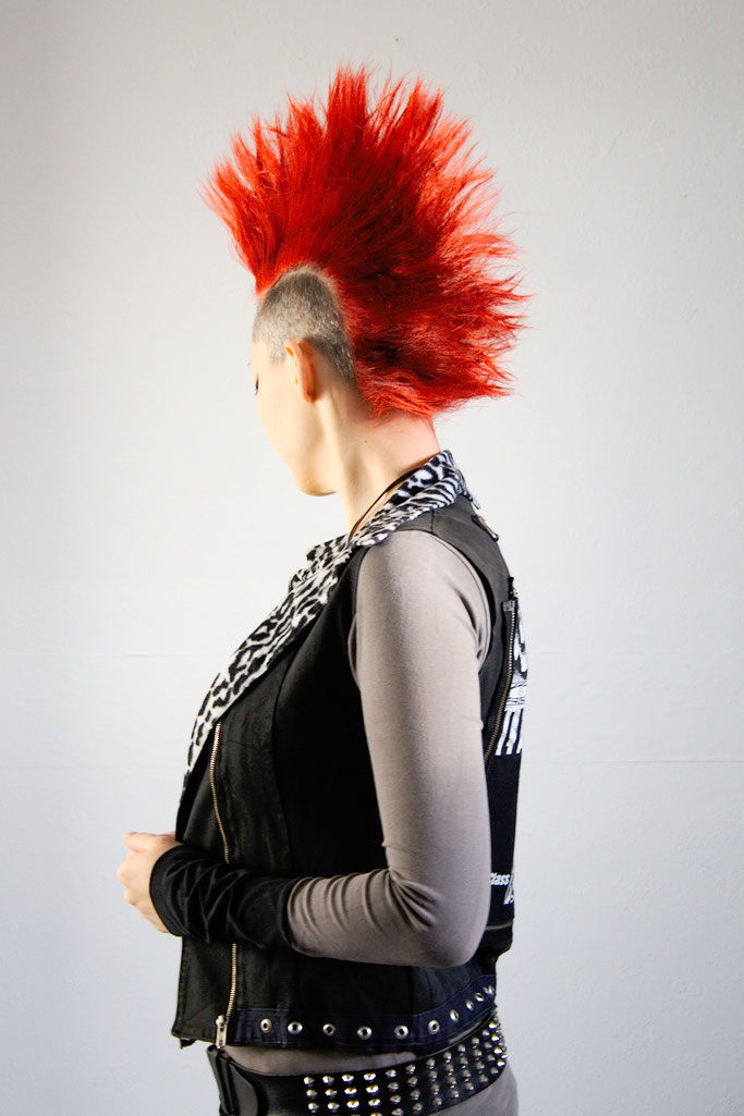 Versöhnung mit (m)einer Haarfarbe - Red Mohawk - Zebraspider DIY Anti-Fashion Blog