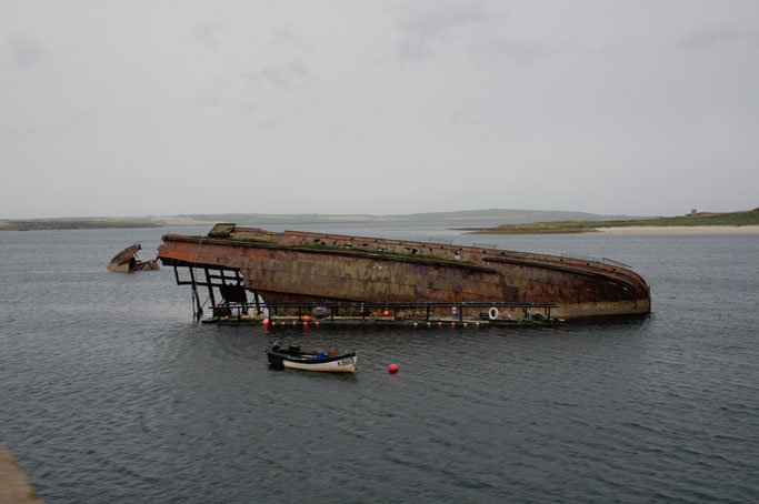 Urlaub Orkney Inseln - Blockship Scapa Flow - Zebraspider DIY Anti-Fashion Blog