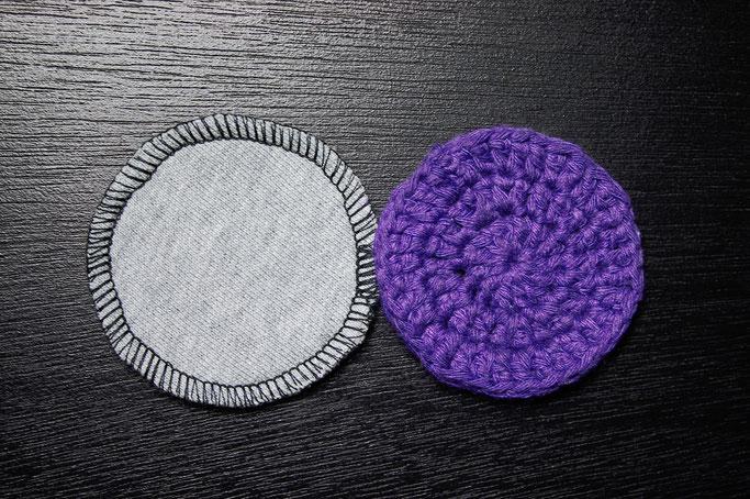 DIY Abschminkpads genäht oder gehäkelt - direkter Vergleich - Zebraspider DIY Anti-Fashion Blog