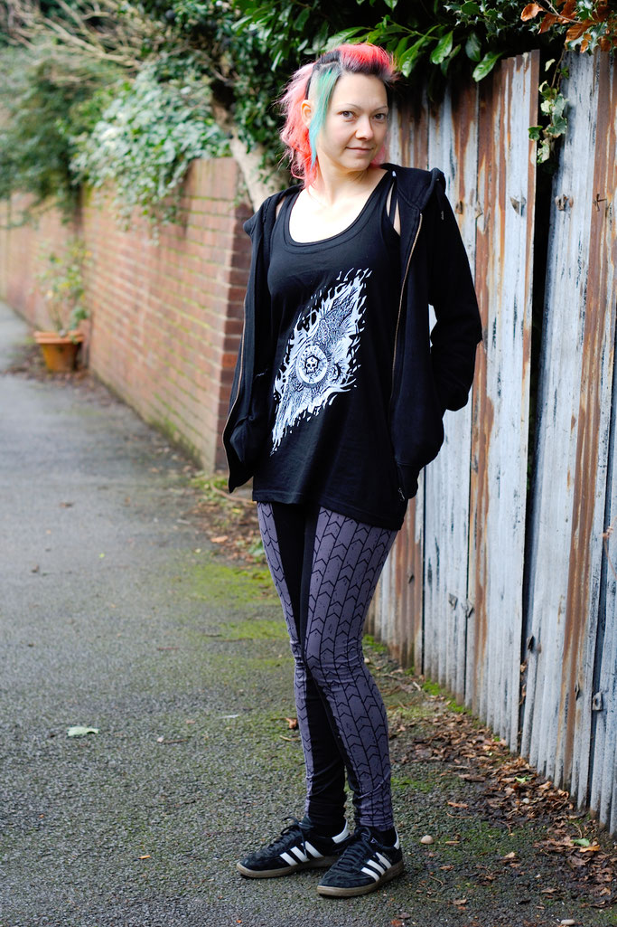 Citrus Leggings Schnittmuster getestet - sportliches Outfit - Zebraspider DIY Anti-Fashion Blog