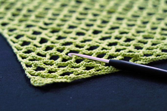 Needlework in progress - fishnet crochet cropped top - Zebraspider DIY Anti-Fashion Blog