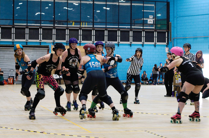 Yorkshire Roller Derby - York Minxters vs. Leicester - Zebraspider DIY Anti-Fashion Blog