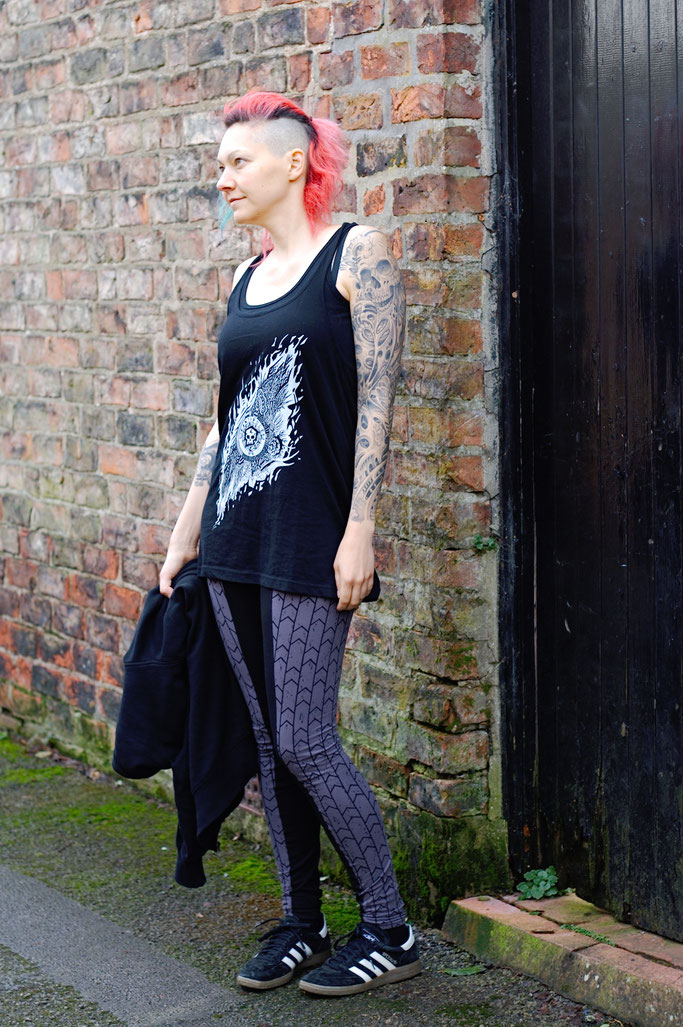 Citrus Leggings Schnittmuster getestet - Sportoutfit aus Biobaumwolle - Zebraspider DIY Anti-Fashion Blog