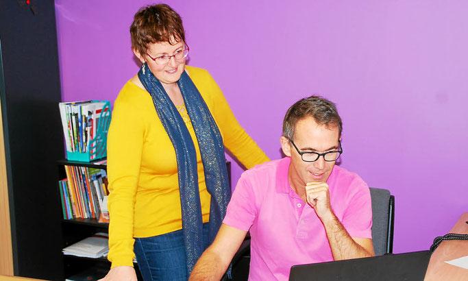 Brigitte Bellec et Benoit Tanneau, un binôme de direction satisfait de cette rentrée 2017.