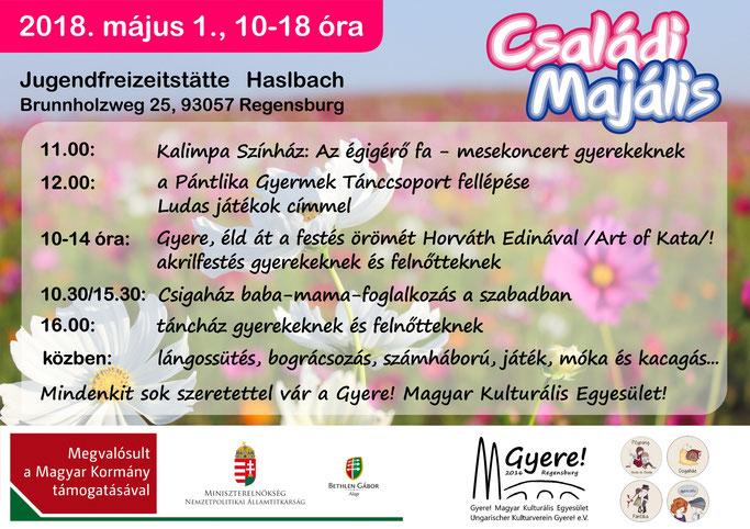 családi majális a regensburgi hétvégi magyar iskolával, óvodával és baba-mama-csoporttal