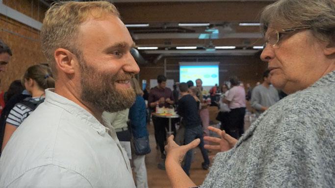 Christoph Schösser im Dialog auf dem 1. Zukunftsforum Witzenhausen 2030 (Foto: Stefan Rötzl)