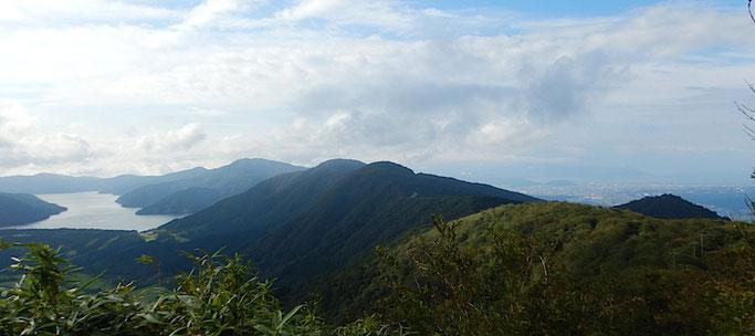 芦ノ湖、箱根外輪山、駿河灘