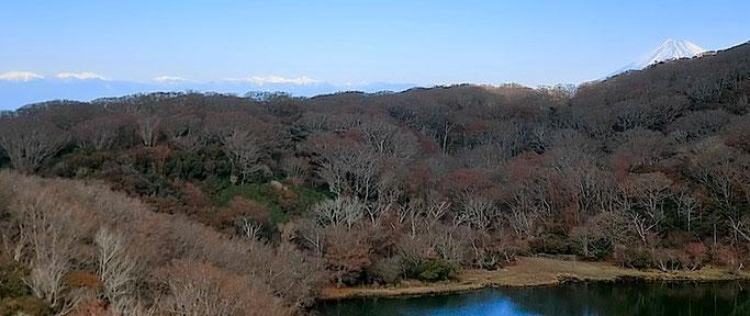 八丁池からの富士山・南アルプス