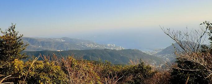 玄岳山頂より 東の展望