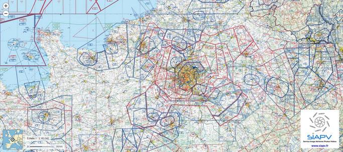 Carte OACI aéronautique et réglementation pour les drones civils