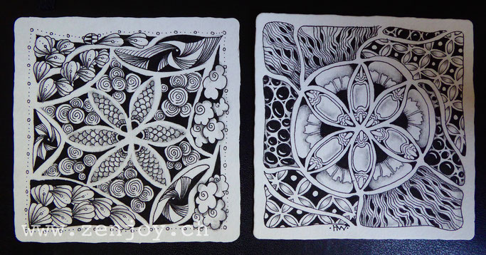 """Fliesen-legen""-String by Zenjoy Zentangle"
