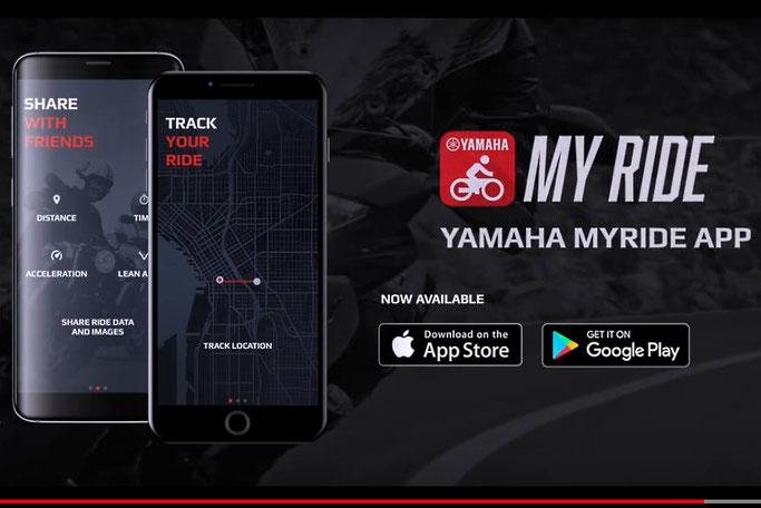 Aplicattion Yamaha Myride, pour iOS et Androïd