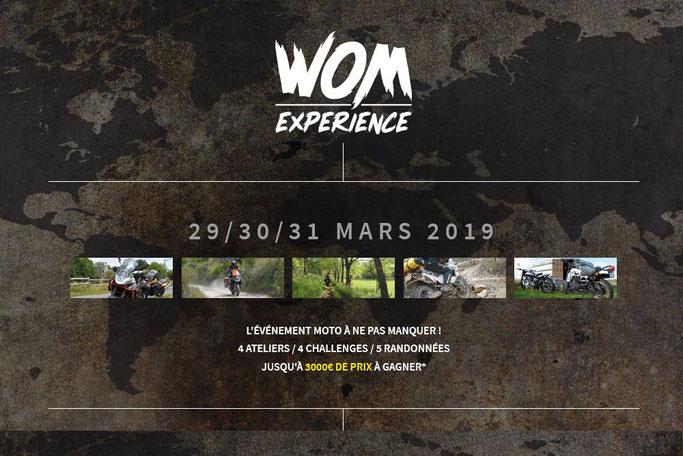 WOM Expérience, évènement moto spécial voyage