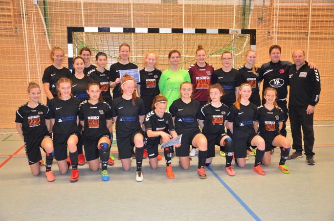 Qualifizierte B-Juniorinnen vom SV Henstedt-Ulzburg und der MSG Steinhorst-Krummesse