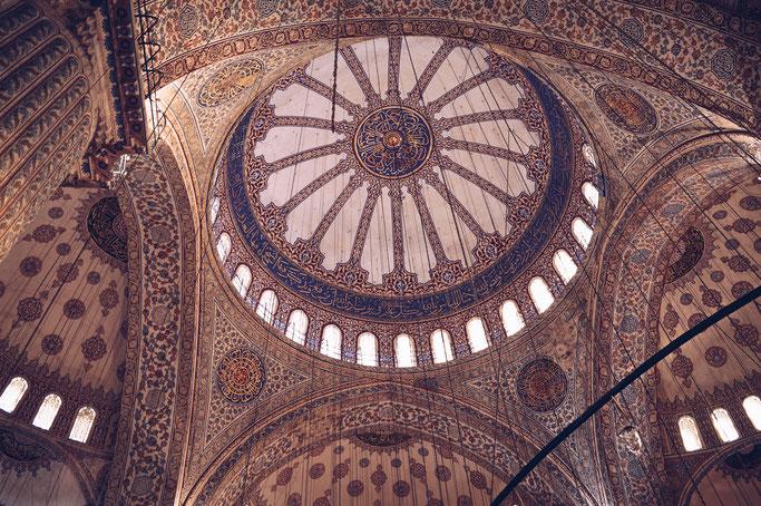 Foto: Innenansicht einer Moscheekuppel