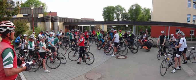 Teilnehmer Montags-Radtraining am 09.05.2016