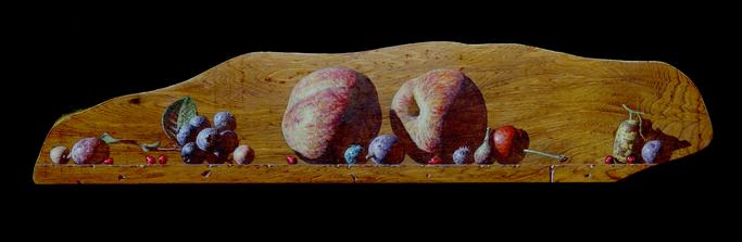 「遠い明日の行方」 73×328㎜ テンペラ、油彩、木、箔