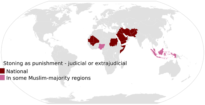 In diesen Ländern ist die Steinigung Gesetz