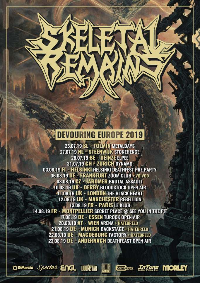 SKELETAL REMAINS, Death Metal,  Europe, tour,  US,  Devouring Mortality, Revocation, Voivod, Century Media Records,  Hatebreed . Psycroptic, News Rockers And Other Animals, Rock News, Rock Magazine, Rock Webzine, rock news, sleaze rock, glam rock, hair m