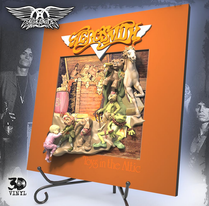 knucklebonz, 3D, Vinyl,  Aerosmith, Toys in the Attic, News Rockers And Other Animals, Rock News, Rock Magazine, Rock Webzine, rock news, sleaze rock, glam rock, hair metal, heavy metal