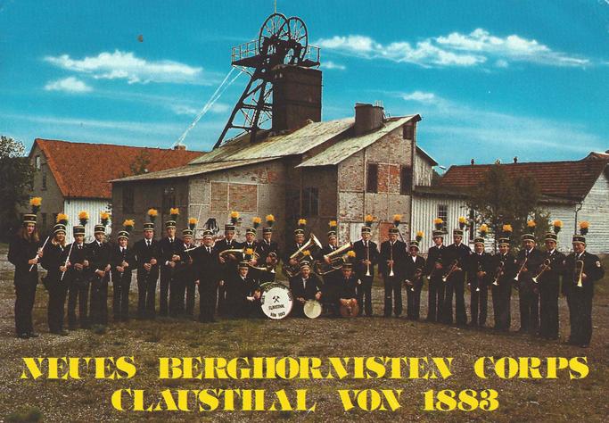 Motiv einer Postkarte anlässlich des 100-jährigen Jubiläums des Neuen Berghornisten-Corps