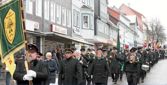 Foto aus der Goslarschen Zeitung aus dem Artikel zum Bergdankfest 2017 vom 26.02.2017
