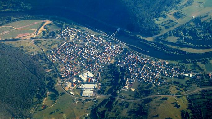 Luftaufnahme von Falbach