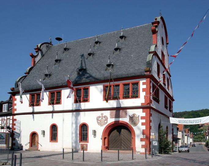 Das historisches Rathaus von Bürgstadt.