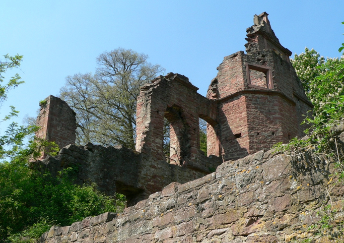 Die Ruine der Collenburg in Collenberg